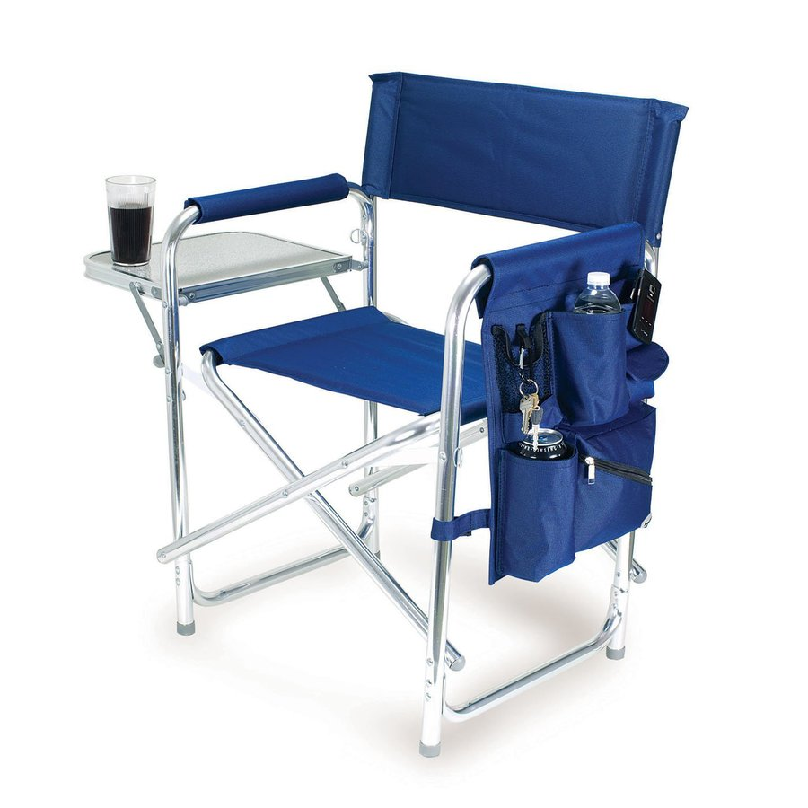 Picnic Time Cast Aluminum Metallic Finish Folding Chair
