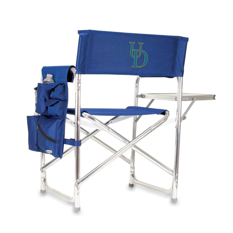 Picnic Time Blue NCAA Delaware Blue Hens Aluminum Folding Camping Chair