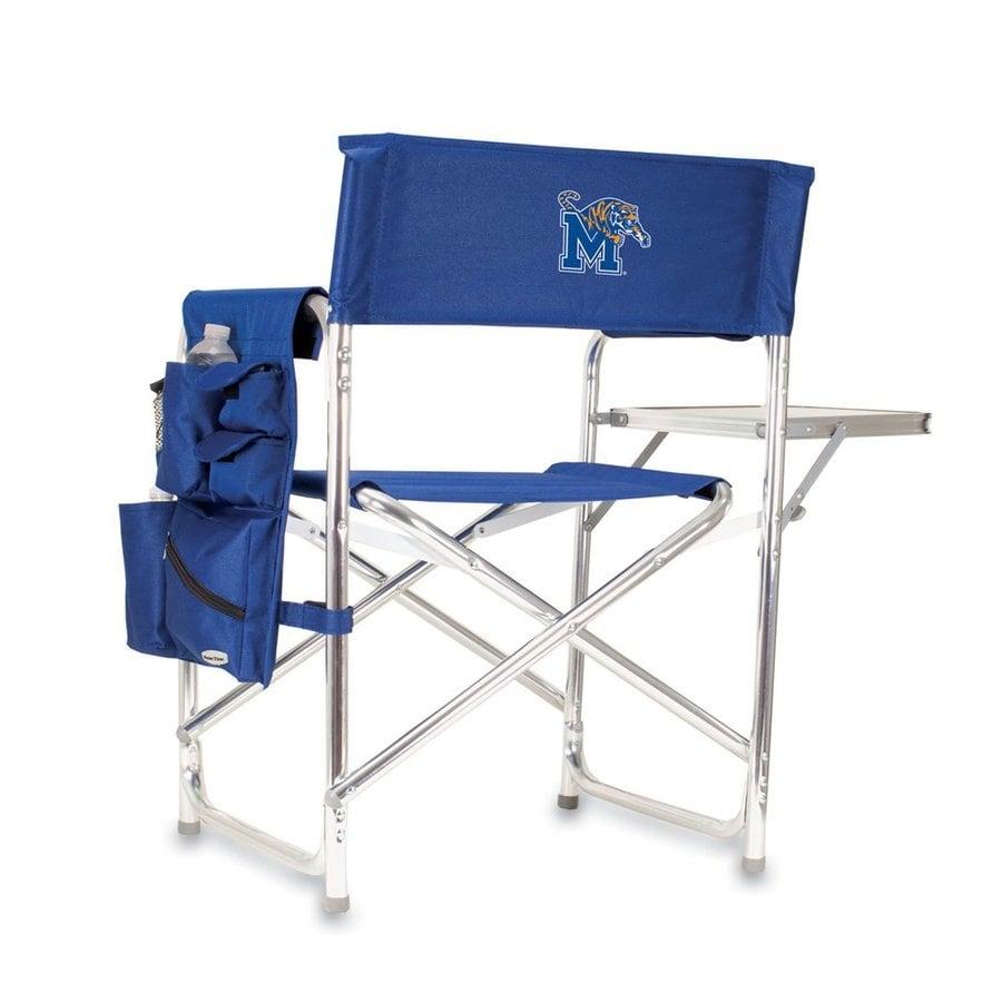 Picnic Time Blue NCAA Memphis Tigers Aluminum Folding Camping Chair