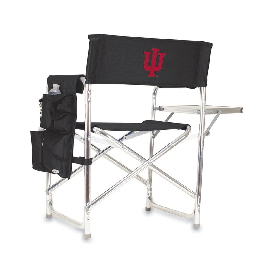 Picnic Time 1 Indoor/Outdoor Aluminum Metallic Indiana Hoosiers Standard Folding Chair