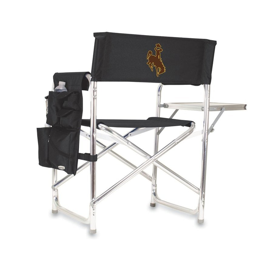 Picnic Time 1 Indoor/Outdoor Aluminum Metallic Wyoming Cowboys Standard Folding Chair