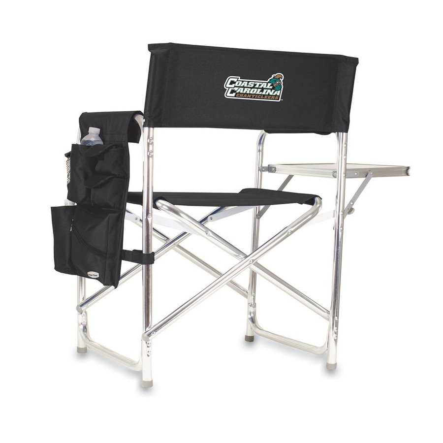 Picnic Time Black NCAA Coastal Carolina Chanticleers Aluminum Folding Camping Chair