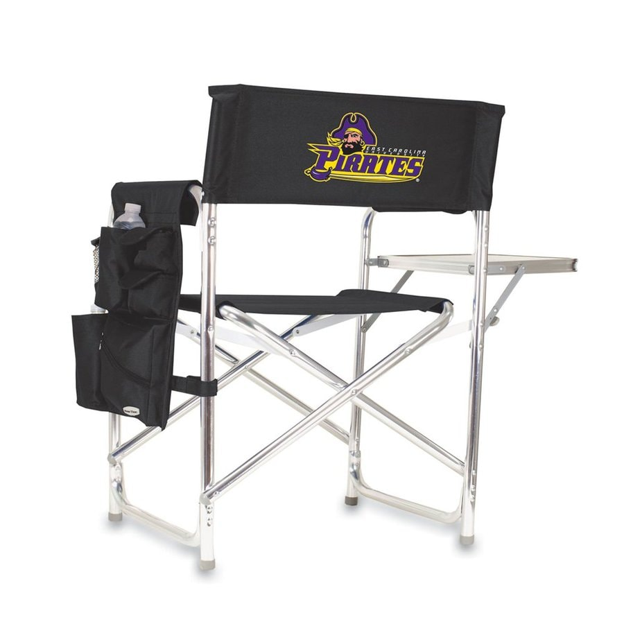 Picnic Time 1 Indoor/Outdoor Aluminum Metallic East Carolina Pirates Standard Folding Chair