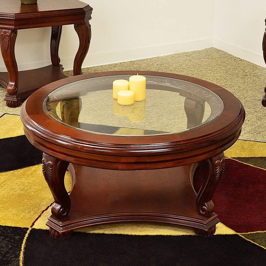 Shop Royal Manufacturing Cherry Round Coffee Table At