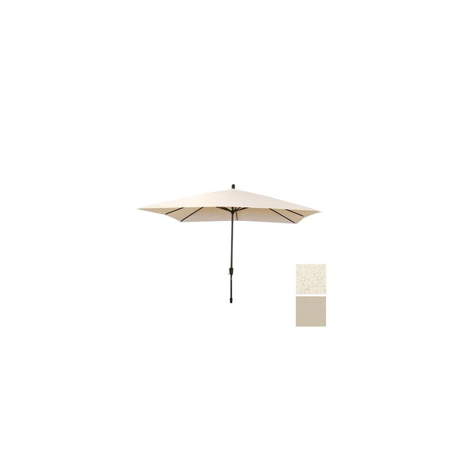 Shade Trends 8-ft 6-in x 10-ft 6-in Antique Beige Rectangular Market Umbrella