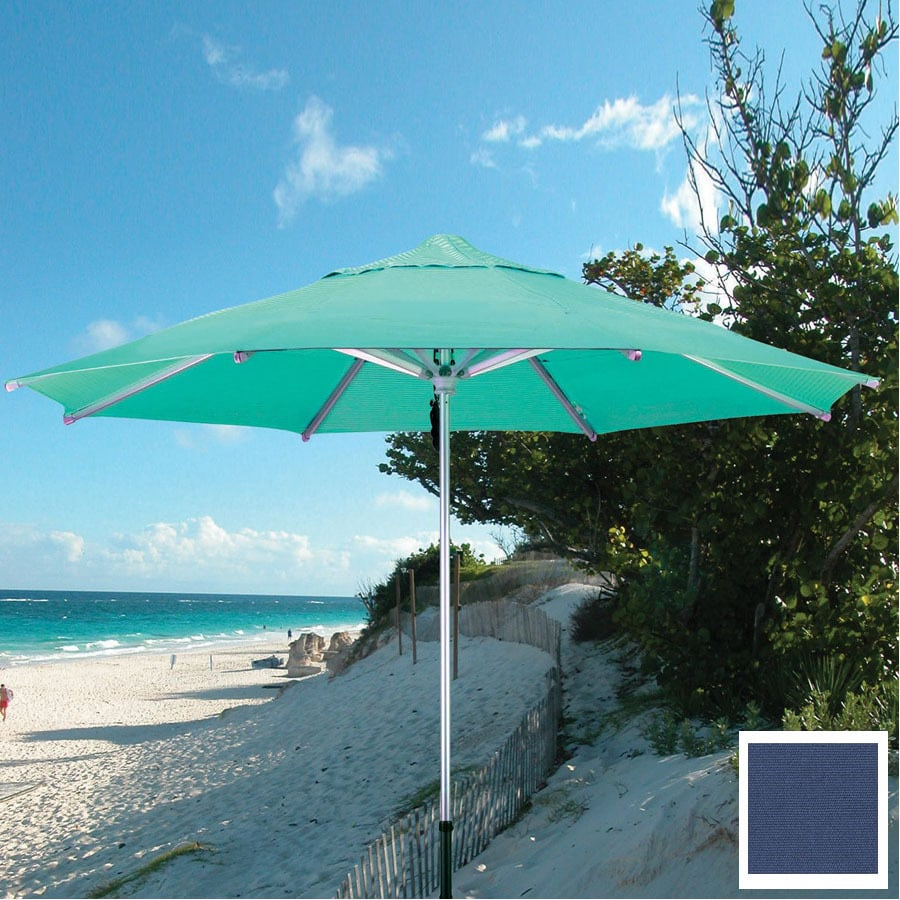 Dayva Square Navy Blue Market Umbrella with Pulley (Common: 10-ft x 10-ft; Actual: 10-ft x 10-ft)