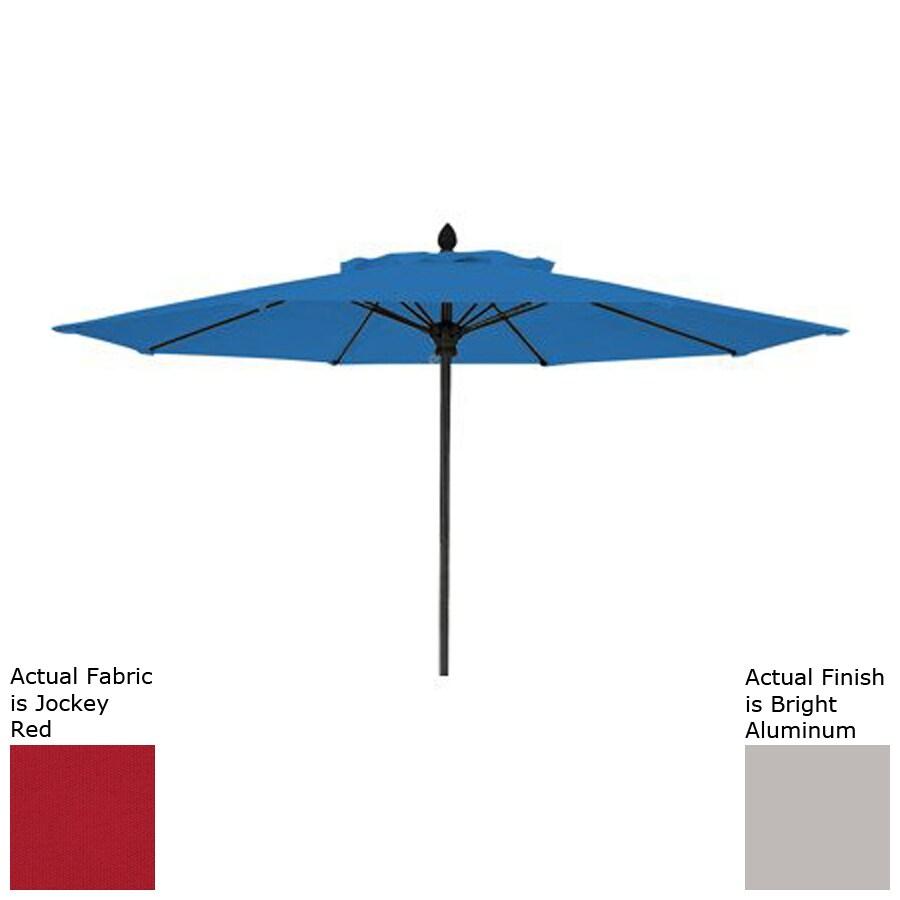 Fiberbuilt Prestige Jockey Red Market Patio Umbrella