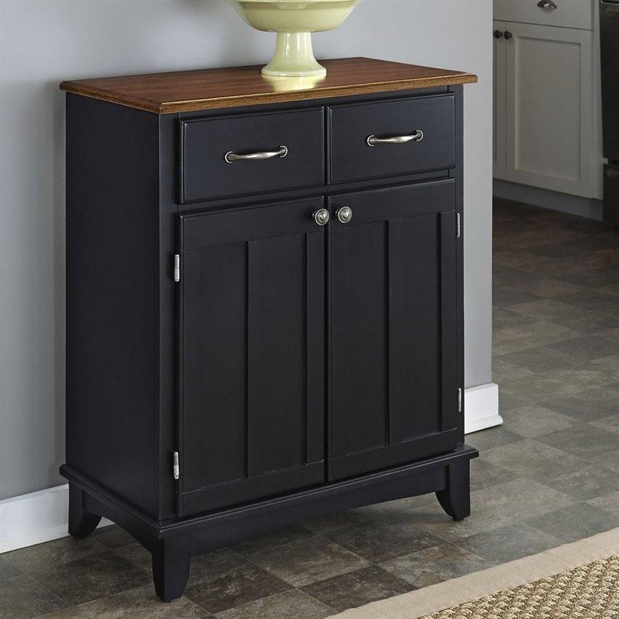 Home Styles Black/Cottage Oak Rectangular Buffet