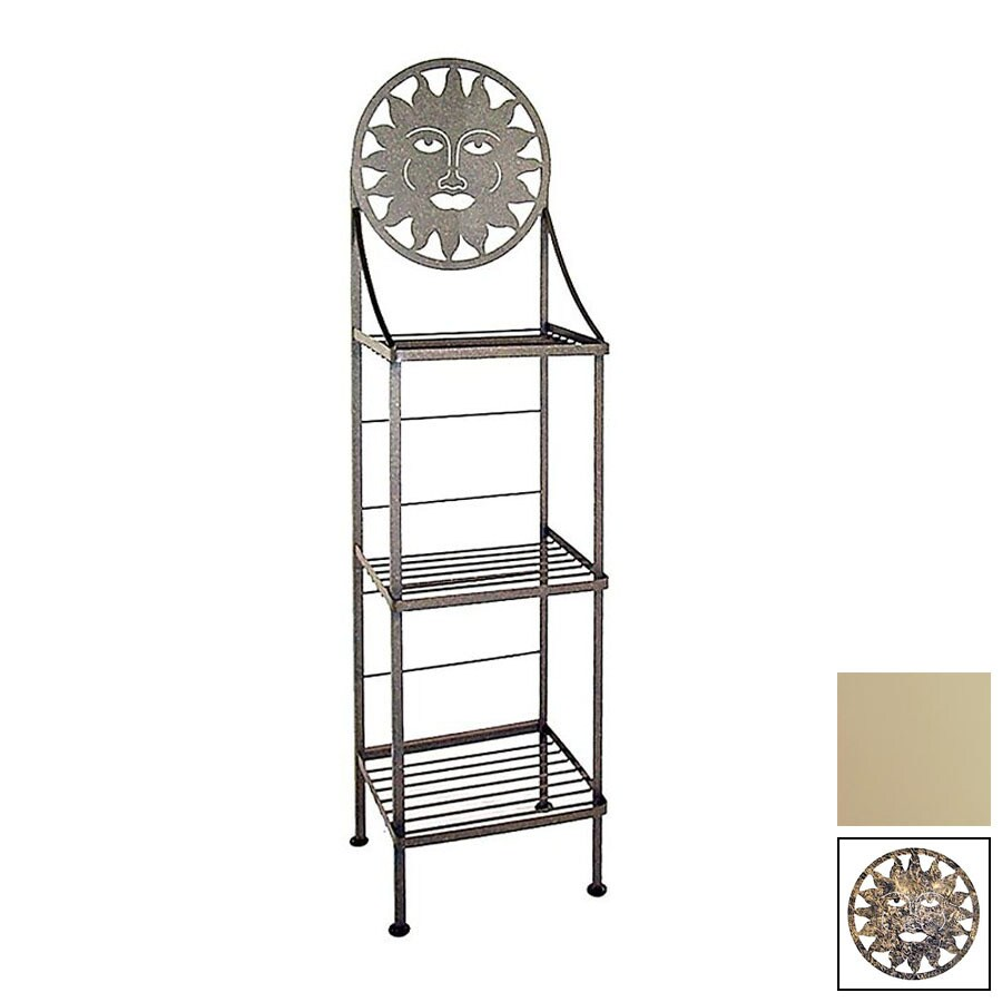 Grace Collection Silhouette Stone Rectangular Bakers Rack