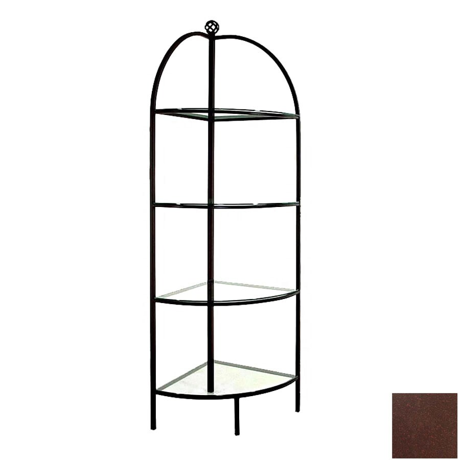 Grace Collection Aged Iron Corner Bakers Rack