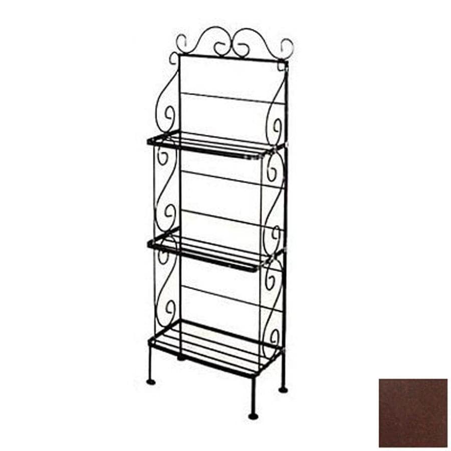 Grace Collection Aged Iron Rectangular Bakers Rack