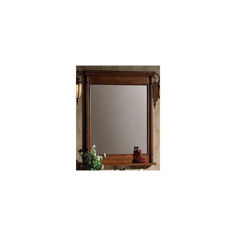 Legion Furniture 30-in W x 33-in H Light Walnut Rectangular Bathroom Mirror