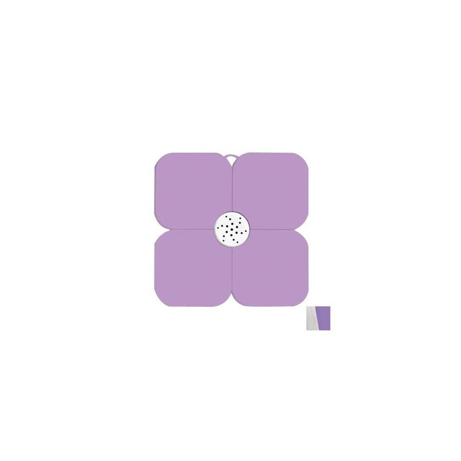 Nameeks Fiorilu 21.63-in x 21.63-in White/Lilac Bath Mat