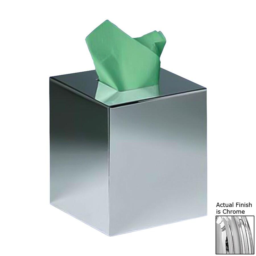 Nameeks Windisch Tall Chrome Brass Tissue Holder