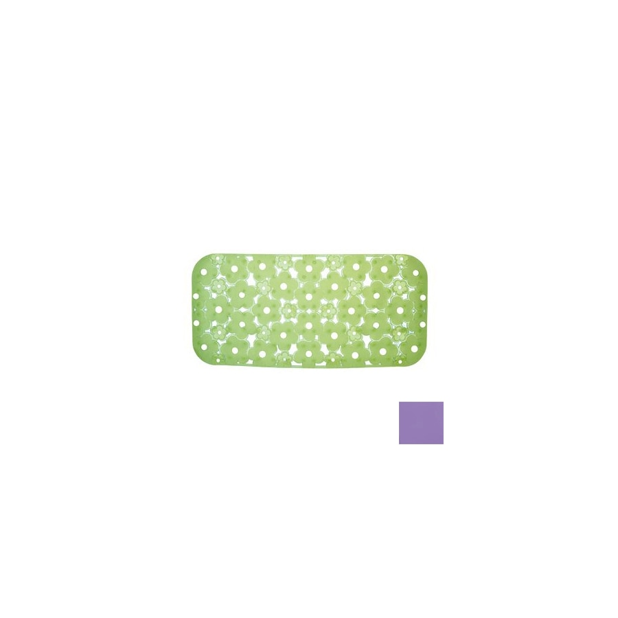 Nameeks Margherita 28.346-in x 17.771-in Lilac Vinyl Bath Mat