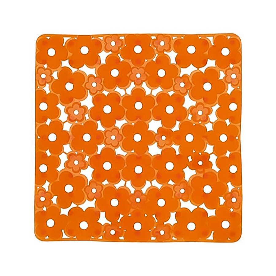 Nameeks Margherita 20.275-in x 20.275-in Orange Vinyl Bath Mat