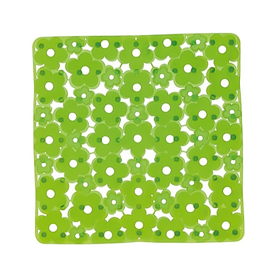 Nameeks Margherita 20.275-in x 20.275-in Green Vinyl Bath Mat