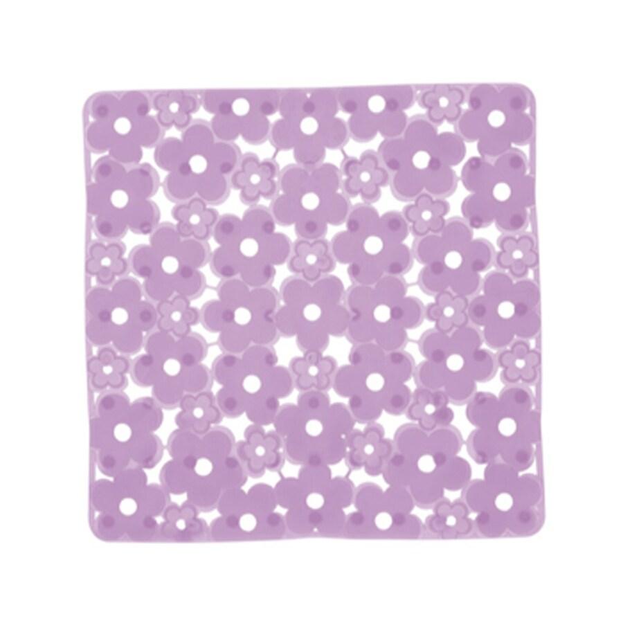 Nameeks Margherita 20.275-in x 20.275-in Lilac Vinyl Bath Mat