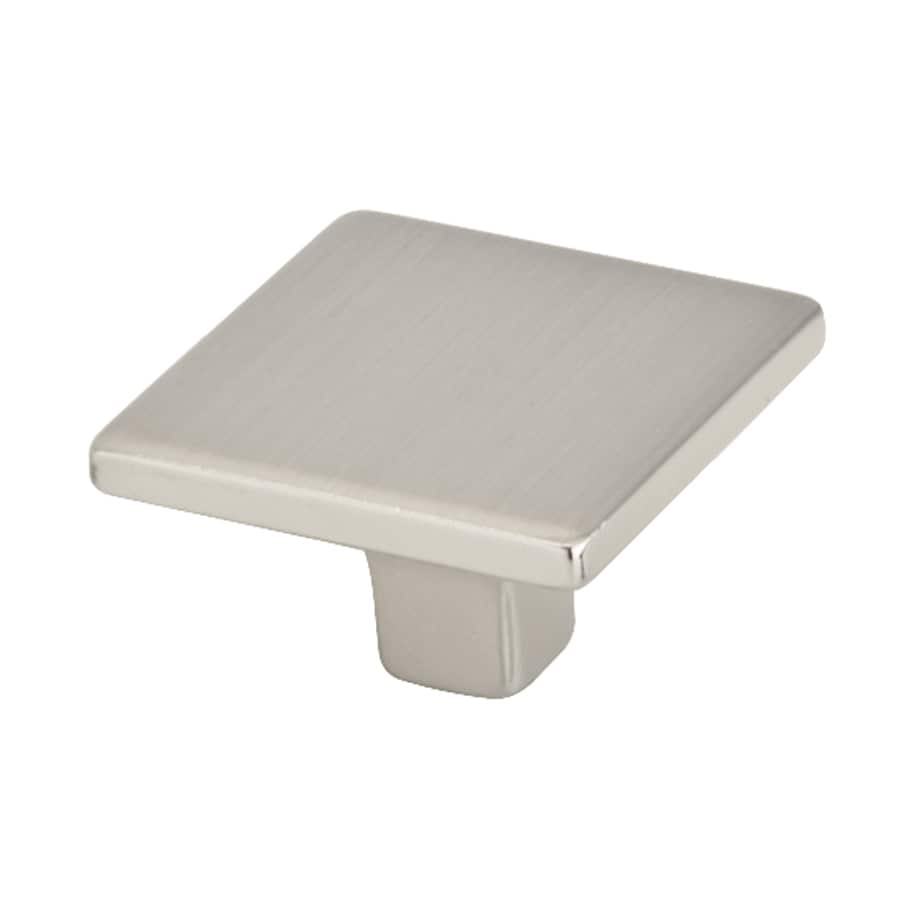 Topex Hardware Italian Designs Satin Nickel Square Cabinet Knob