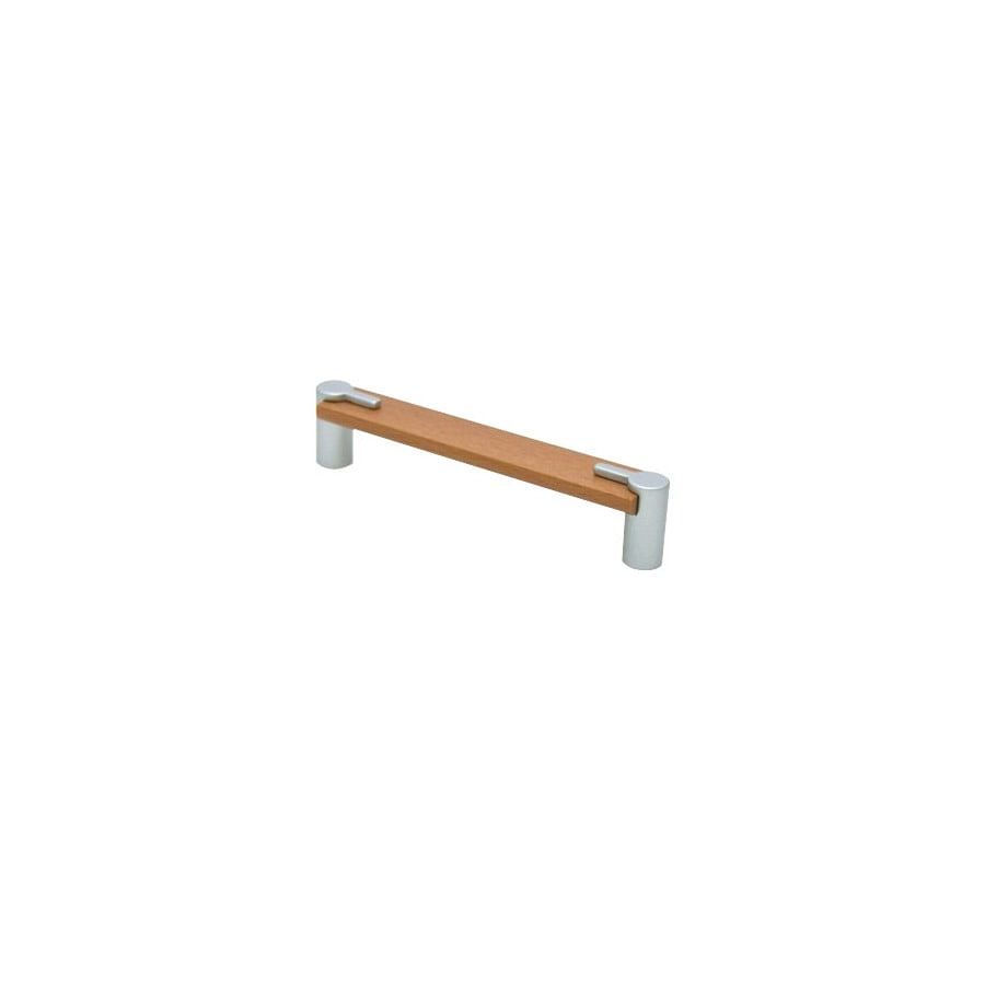 Topex Hardware 6-5/16-in Center-to-Center Matte Nickel Wood and Metal Bar Cabinet Pull