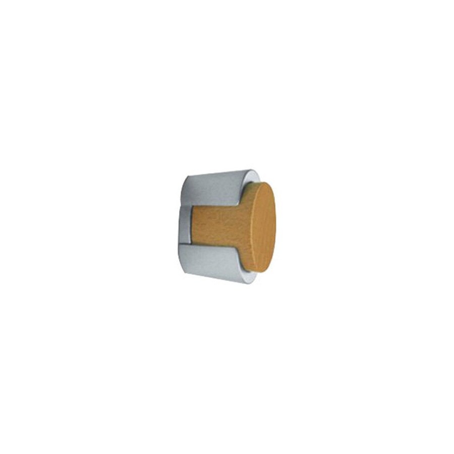Topex Hardware Wood and Metal Matte Nickel Round Cabinet Knob