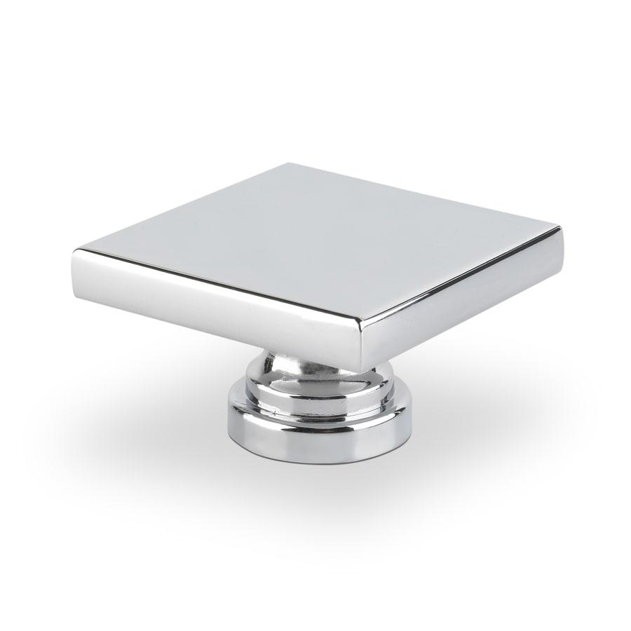 Topex Hardware Contemporary Bright Chrome Square Cabinet Knob