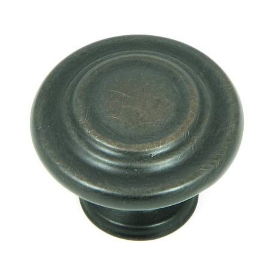 Stone Mill Hardware Princeton Oil-Rubbed Bronze Round Cabinet Knob