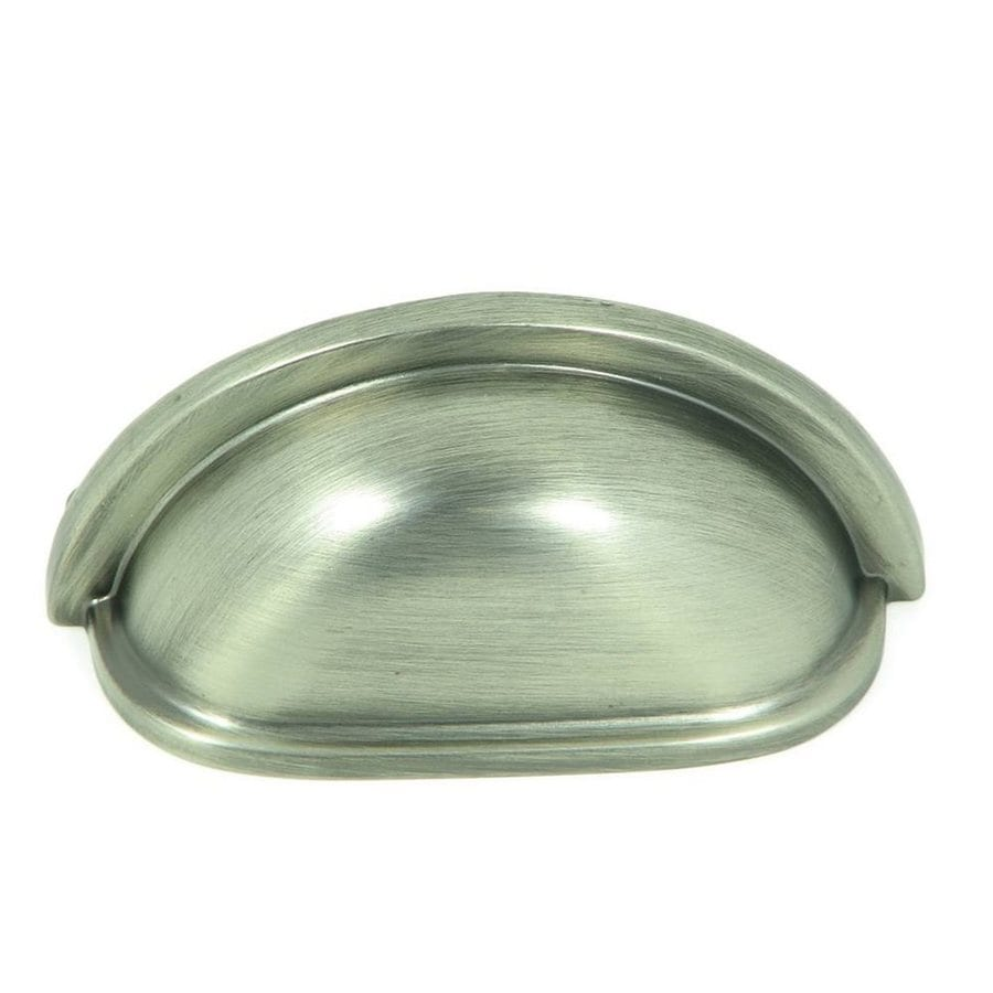 Stone Mill Hardware 3-in Center-to-Center Weathered Nickel Princeton Cup Cabinet Pull