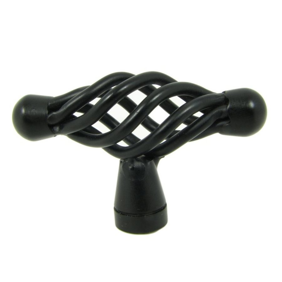 Stone Mill Hardware Sheffield Matte Black Novelty Cabinet Knob
