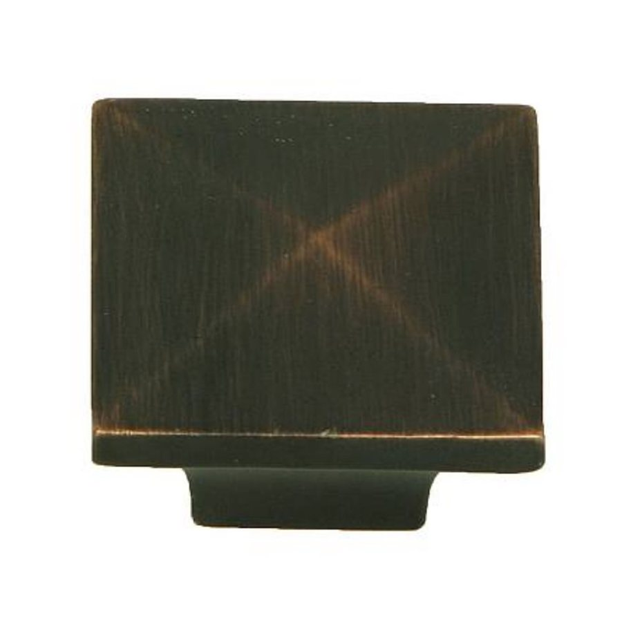 Stone Mill Hardware Milan Oil-Rubbed Bronze Square Cabinet Knob