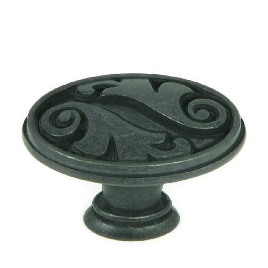 Stone Mill Hardware Meadow Brook Black Antique Oval Cabinet Knob
