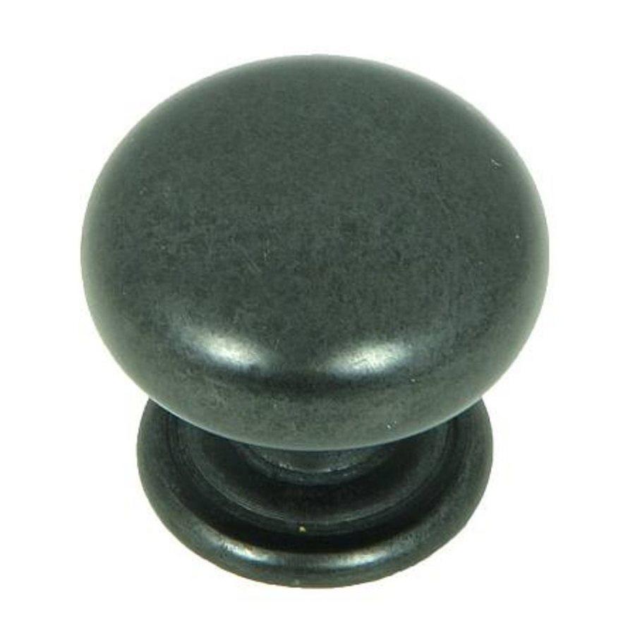 Stone Mill Hardware Princeton Black Antique Round Cabinet Knob