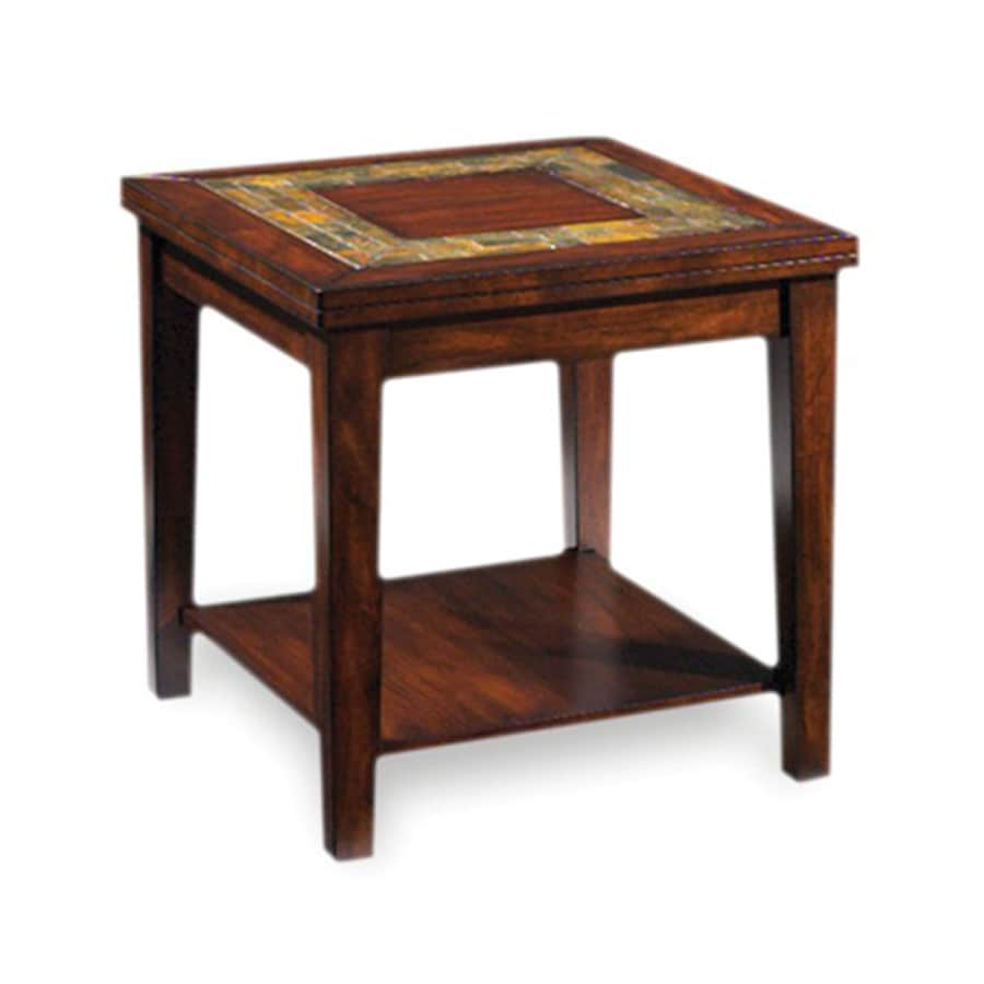 Steve Silver Company Davenport Burnished Medium Brown Cherry Square End Table