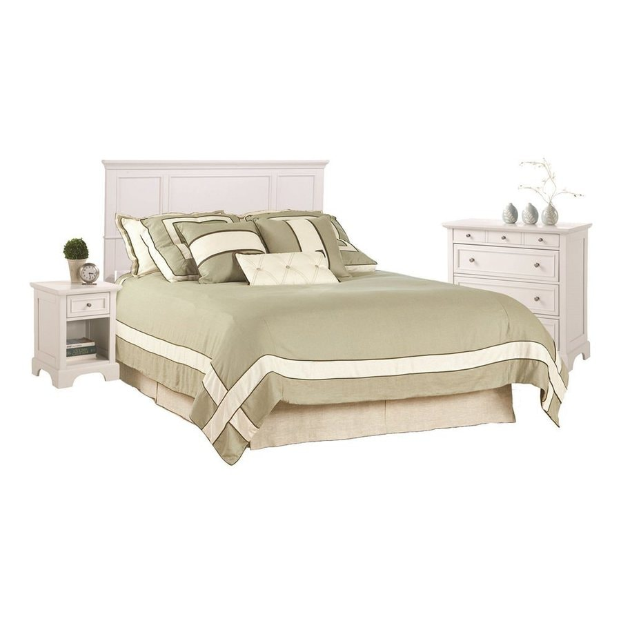 Shop home styles naples white queen bedroom set at for Best rated bedroom furniture