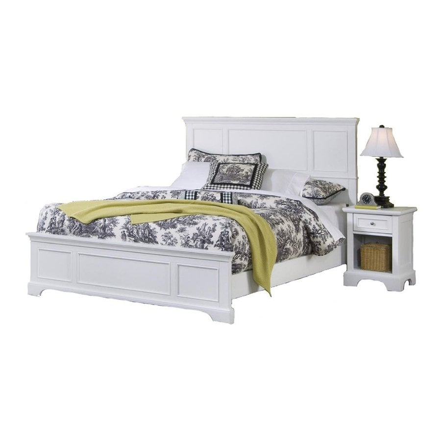 Shop home styles naples white queen bedroom set at for Queen furniture set