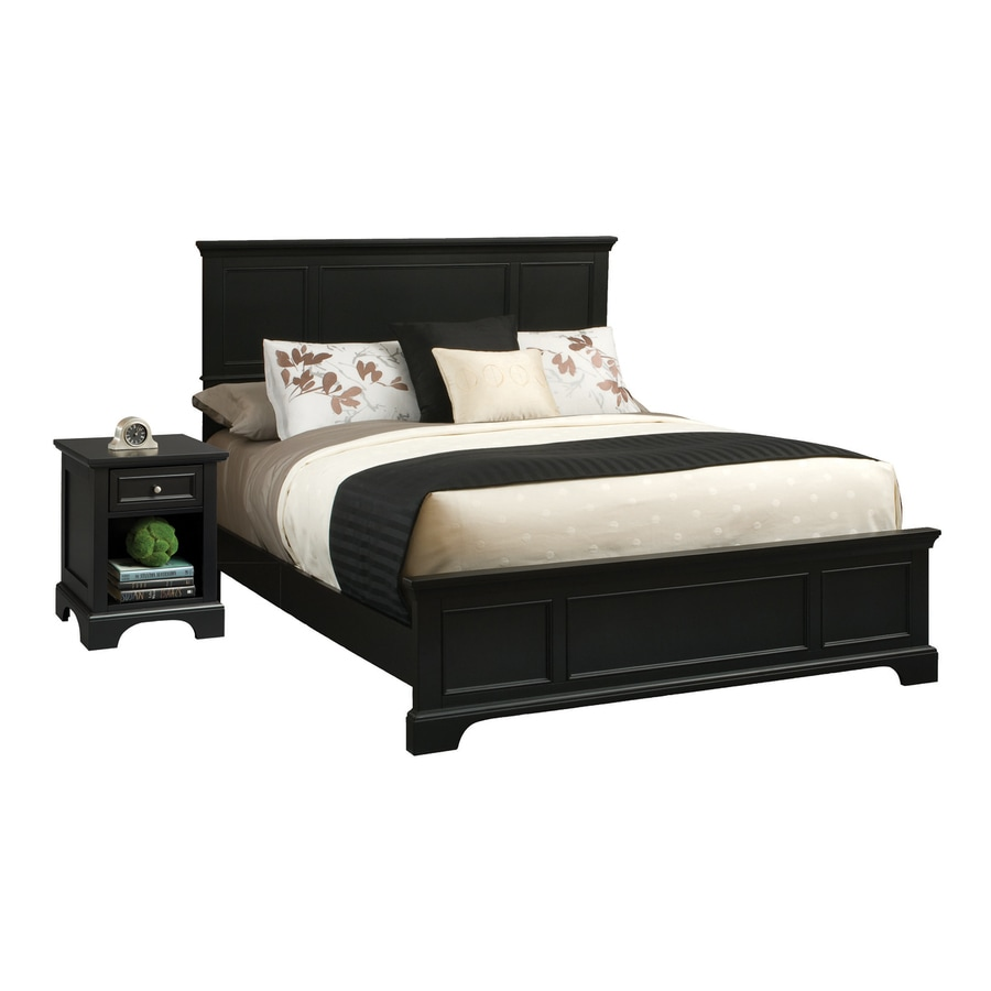 Shop home styles bedford black queen bedroom set at for Bed sets with mattress