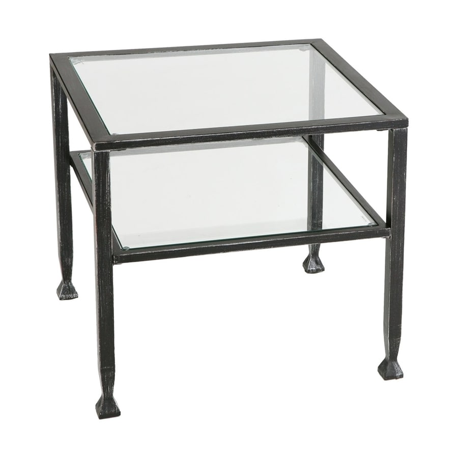 Shop boston loft furnishings bunch distressed black metal square coffee table at Metal square coffee table
