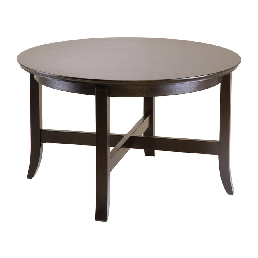 Winsome Wood Toby Dark Espresso Composite Round Coffee Table