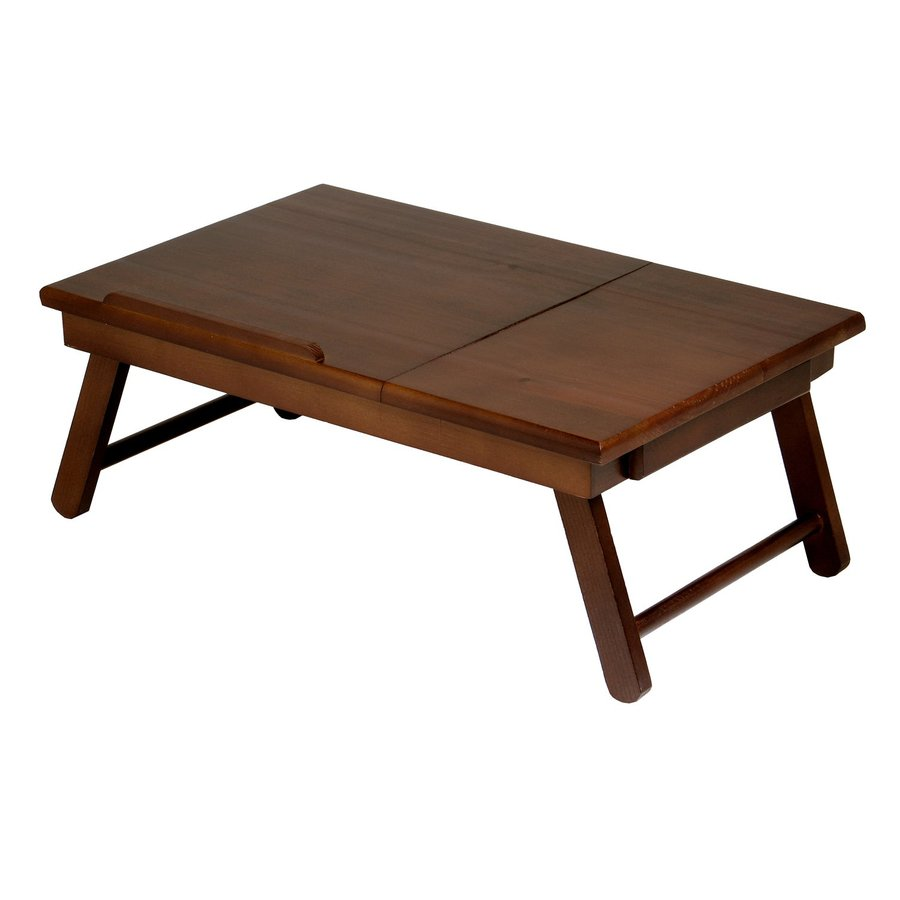 Winsome Wood 22.38-in x 13.78-in Antique Walnut Composite Rectangle Serving Tray