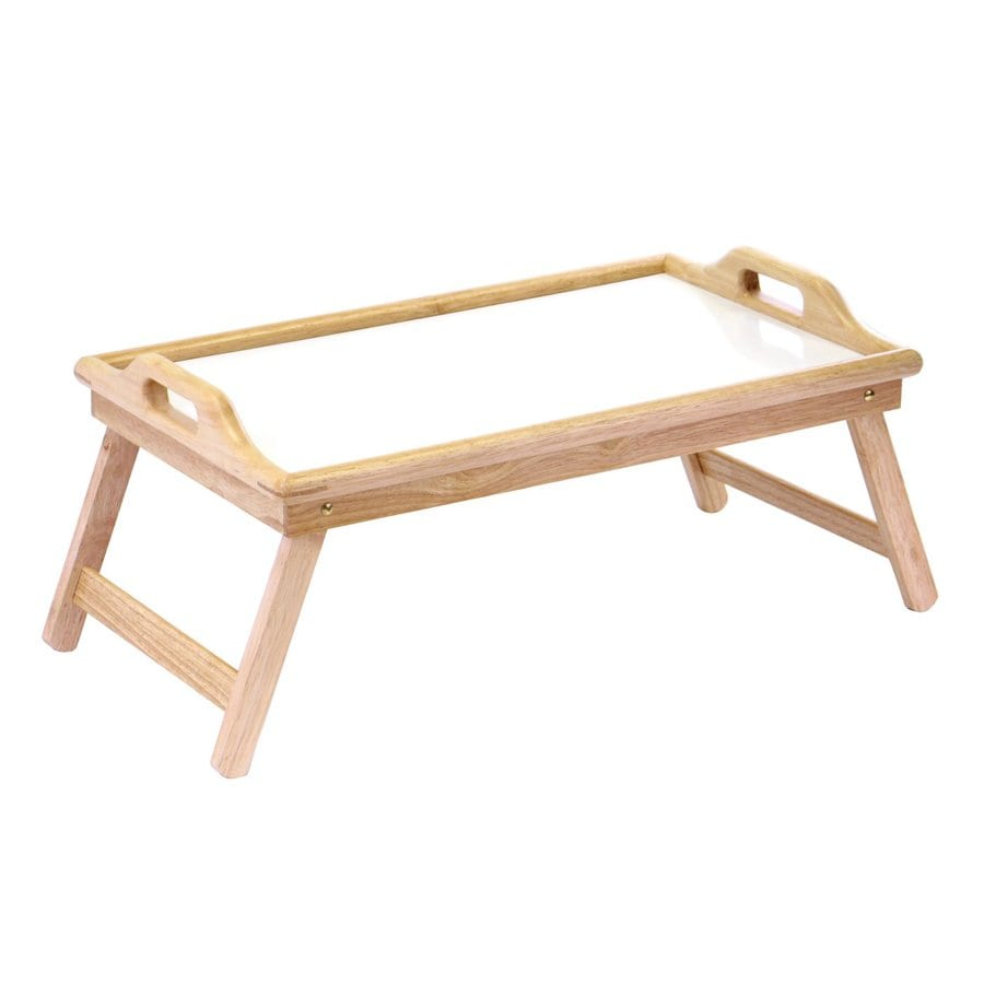 Winsome Wood 21.3-in x 13.8-in Natural/White Wood Rectangle Serving Tray