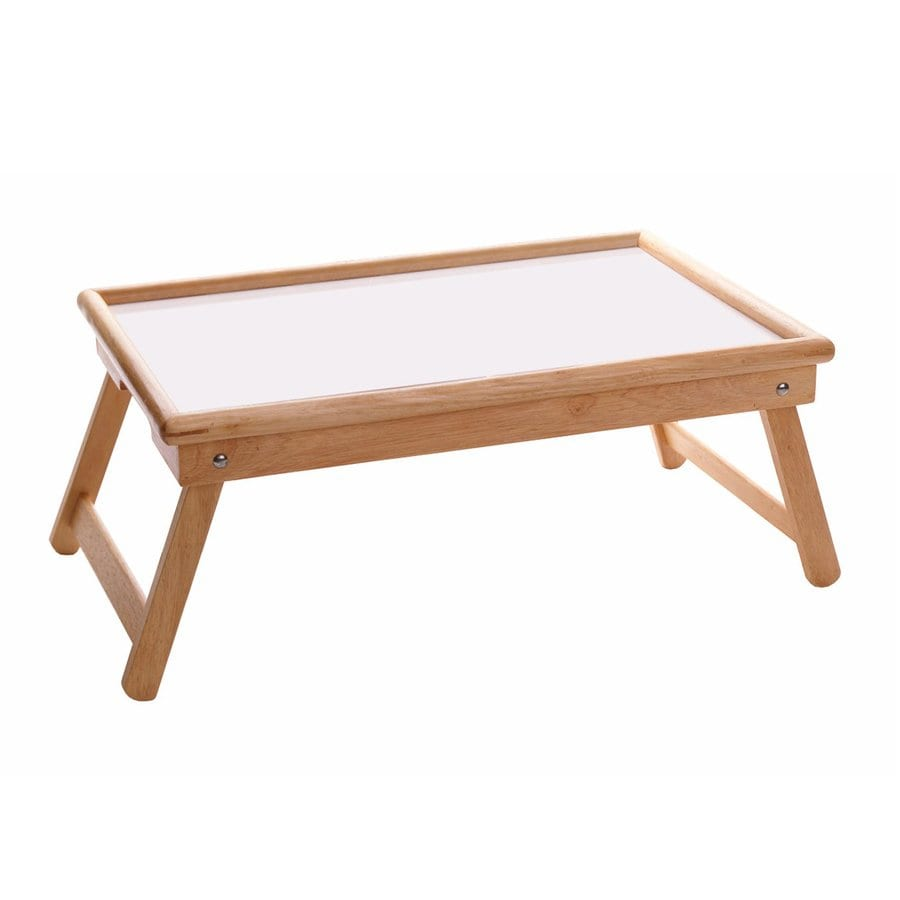 Winsome Wood 21.5-in x 14-in Natural/White Wood Rectangle Serving Tray