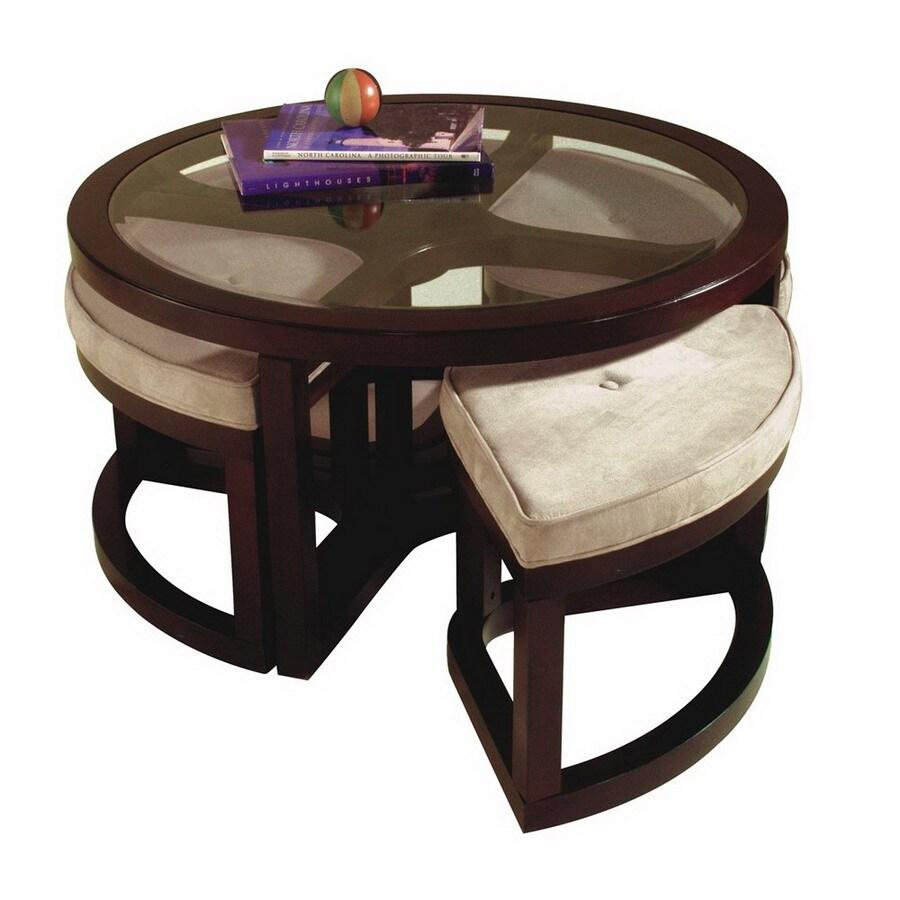 Magnussen Home Juniper Mink Brown Round Coffee Table