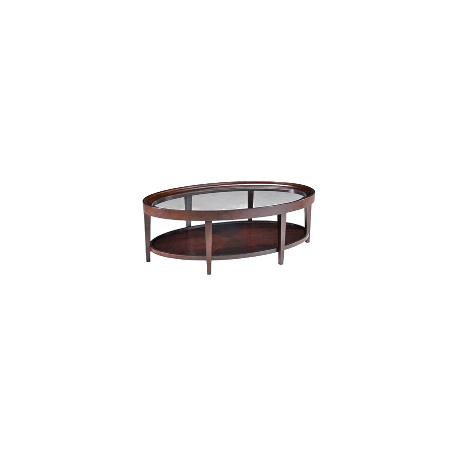 Shop Magnussen Home Carson Sienna Cherry Oval Coffee Table At