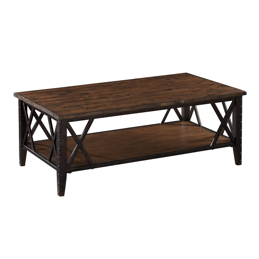 Shop Magnussen Home Fleming Rustic Pine Rectangular Coffee Table At