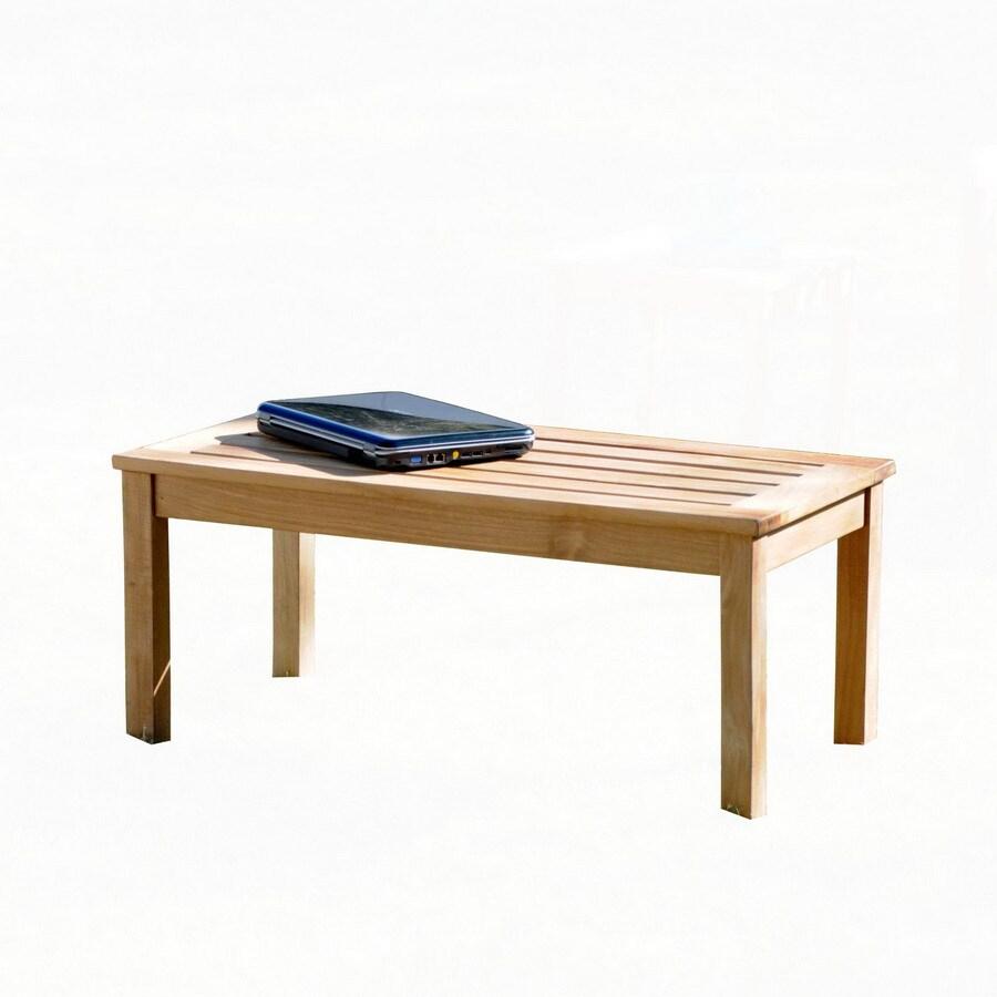 Boston Loft Furnishings Holly 17.75-in W x 36-in L Rectangle Teak Coffee Table