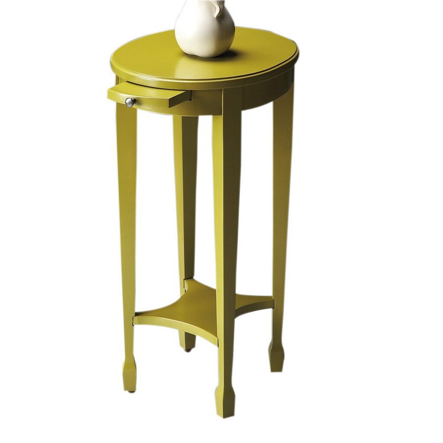 Butler Specialty Artists Originals Pear Green Oval End Table