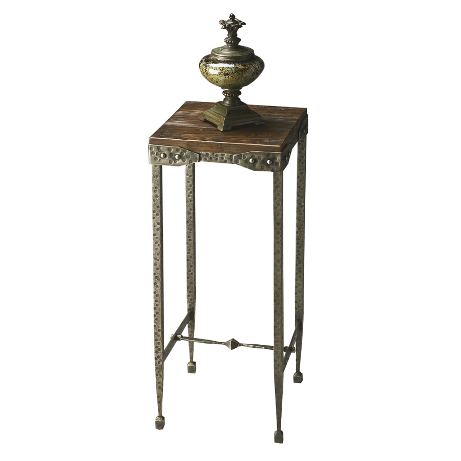 Butler Specialty Mountain Lodge Burnt Umber Wood Metal Square End Table