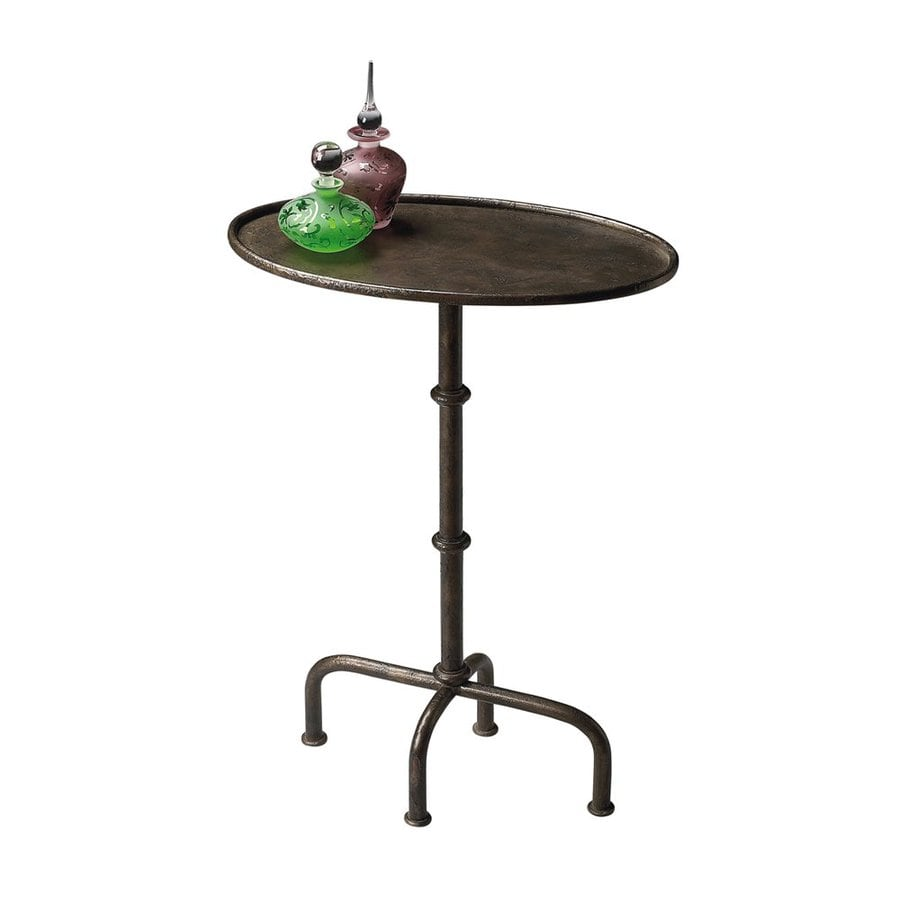 Butler Specialty Metalworks Antique Bronze Oval End Table