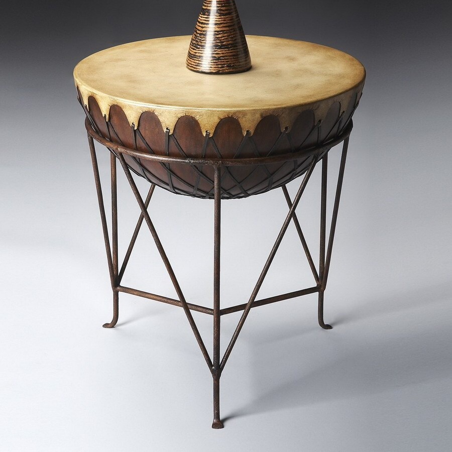 Butler Specialty Mountain Lodge Metal Round End Table