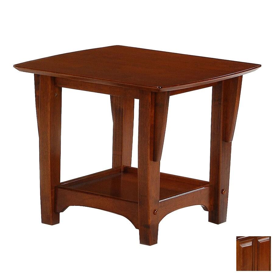 Night & Day Furniture Premium Cherry Rectangular End Table